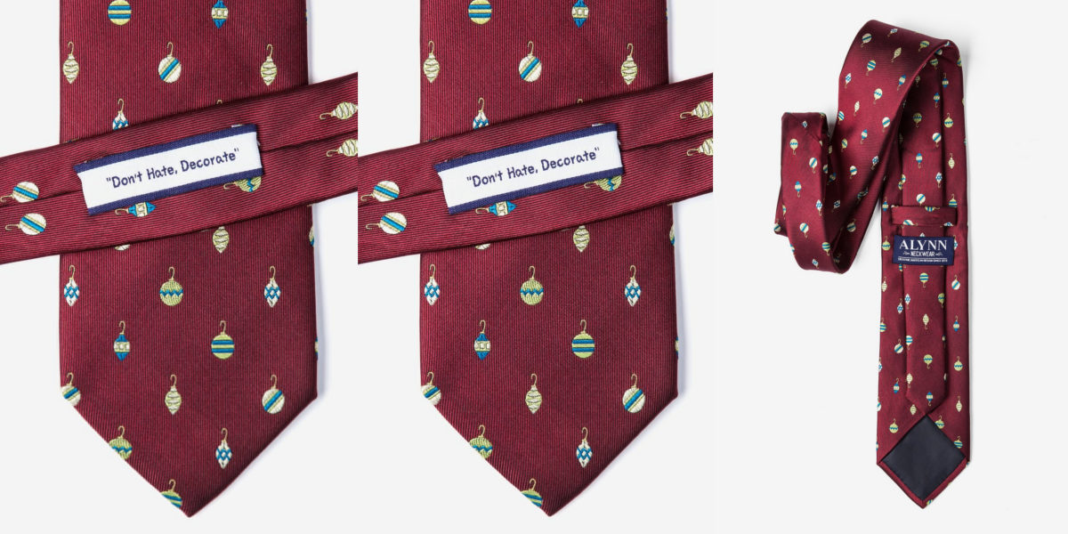 dont hate decorate christmas tie