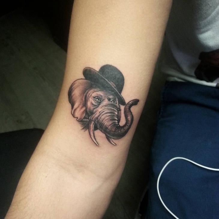 elephant inner arm tattoo