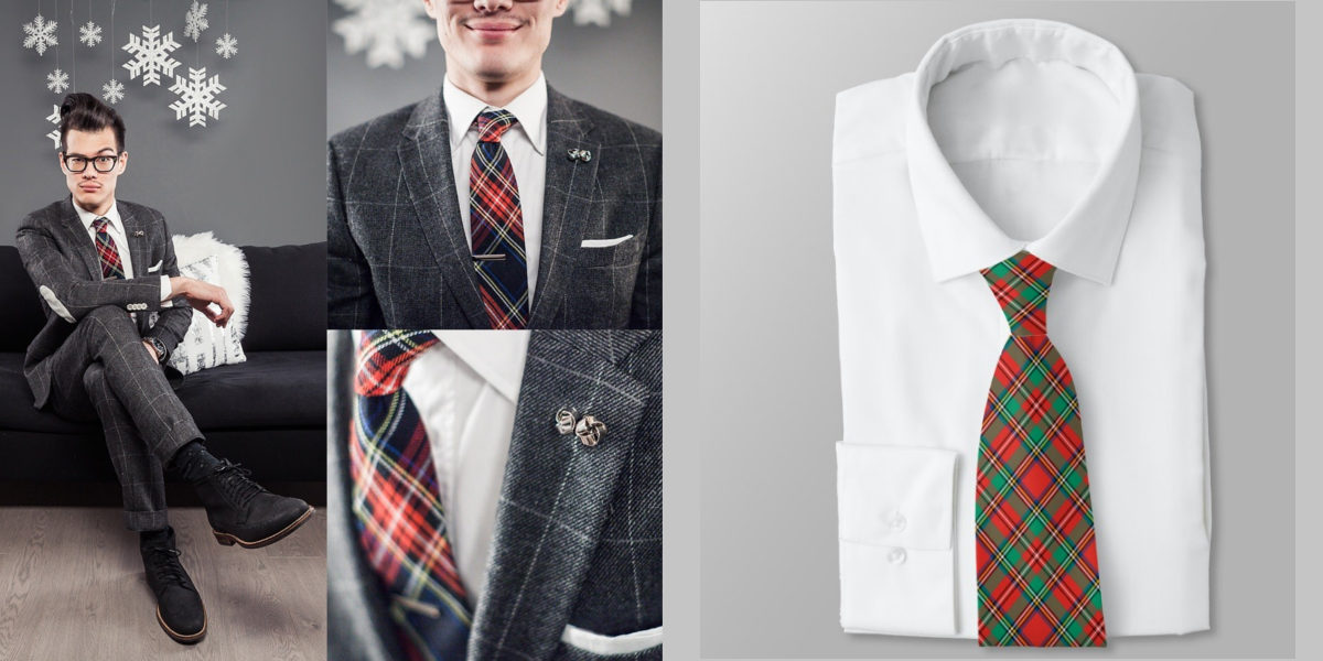 classic christmas plaid tie1
