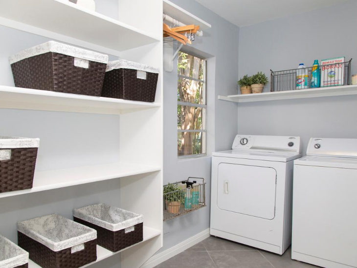 laundry closet storage idea