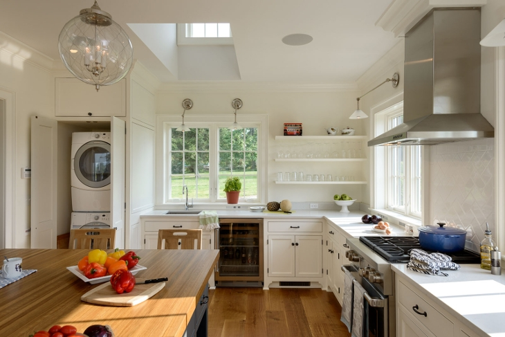 kitchen laundry shelving idea
