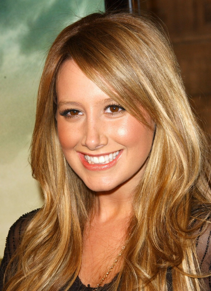 Ashley Tisdale Long Hayered Hair