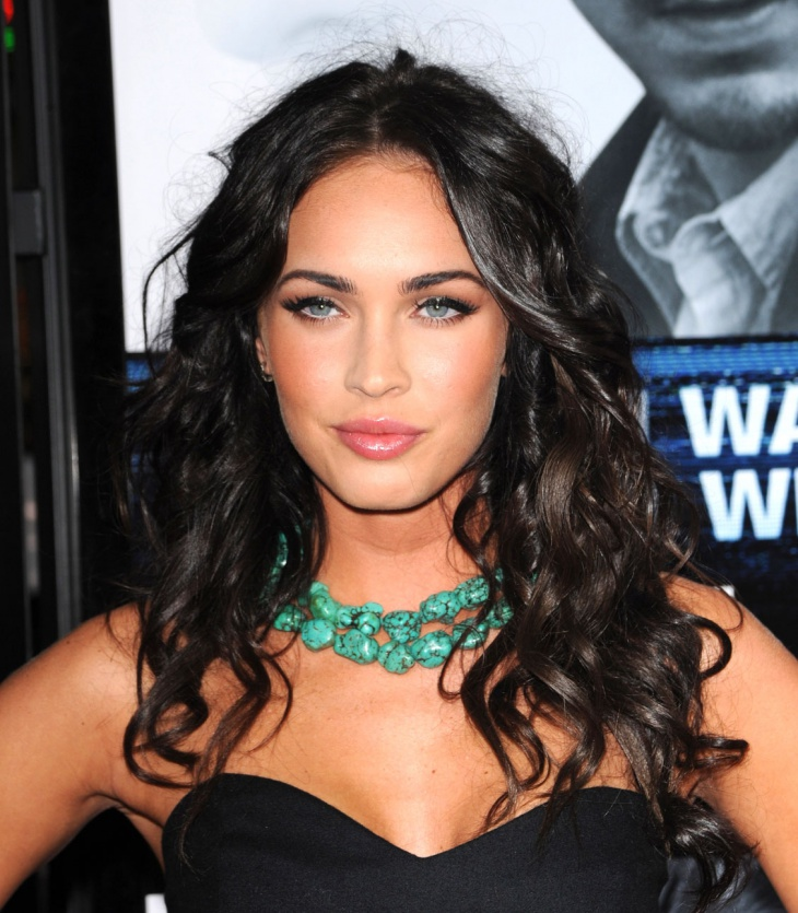 Megan Fox Long Curly Layered Haircut