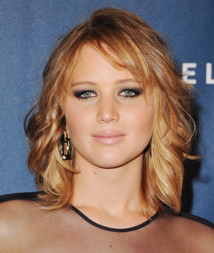 Jennifer Lawrence Short Bob Layered Haircut