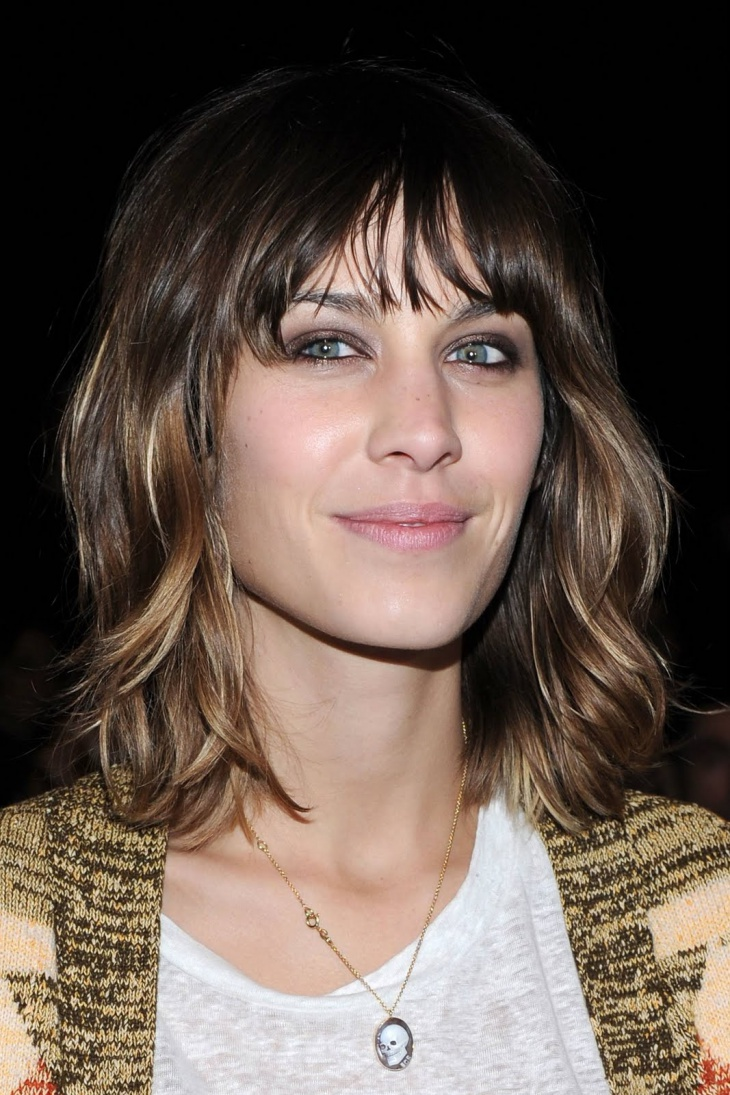 Alexa Chung Medium Shaggy Layered Haircut