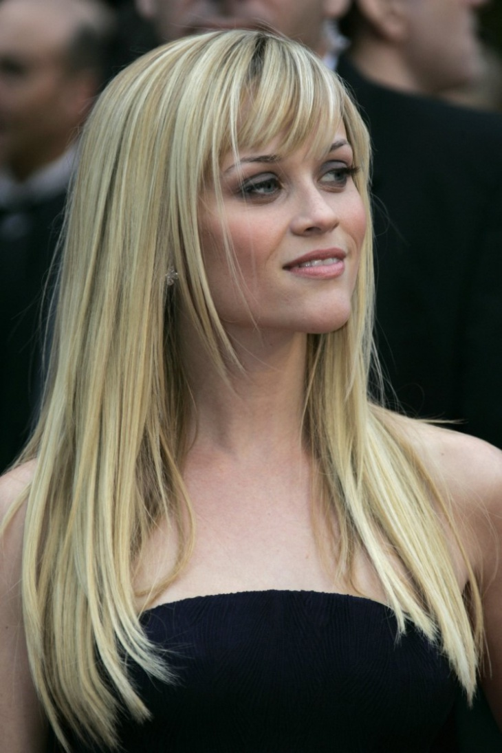 Reese Witherspoon Blonde Layered Haircut with Bangs