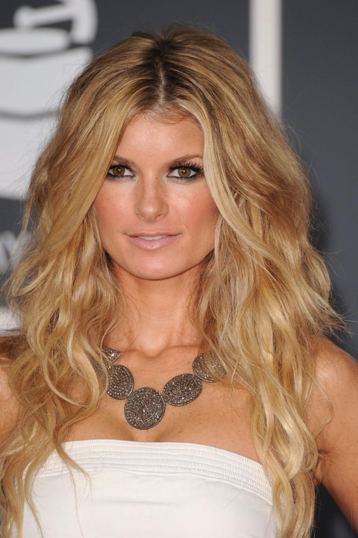 Marisa Miller Long Blonde Layered Haircut