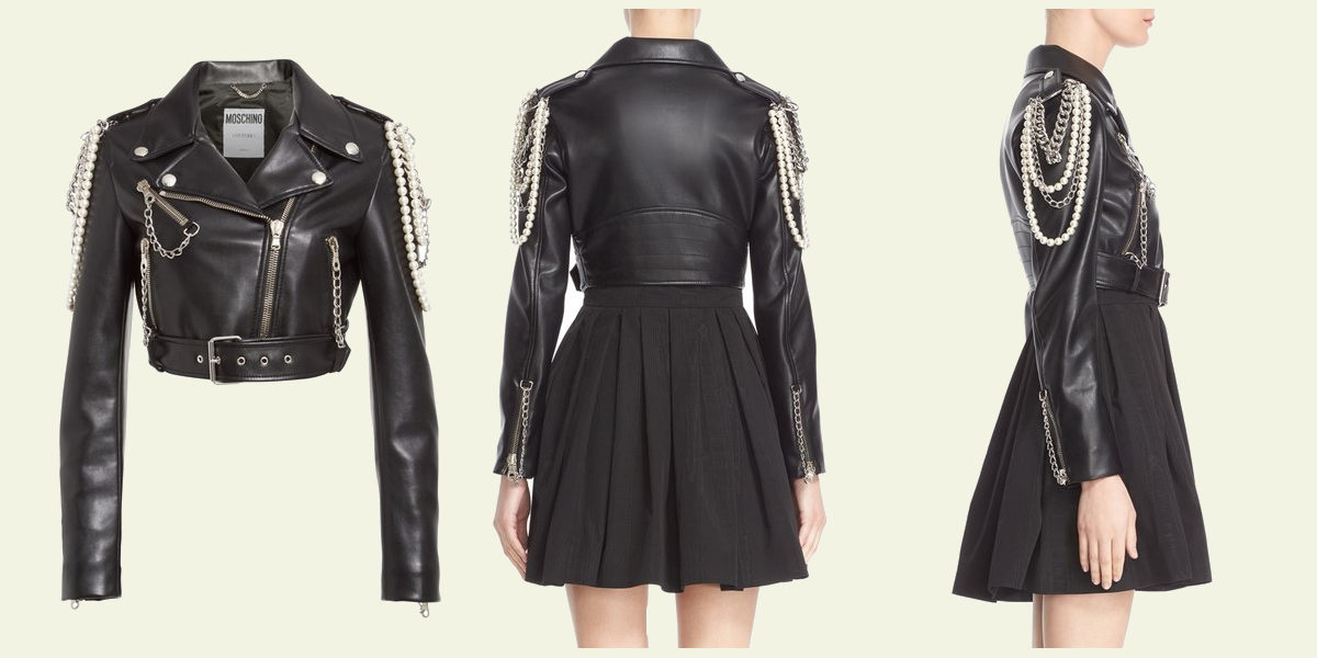 moschino-chain-faux-pearl-embellished-faux-leather-jacket