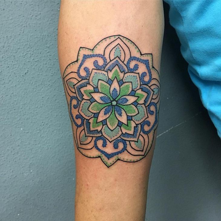 upper inner forearm tattoo