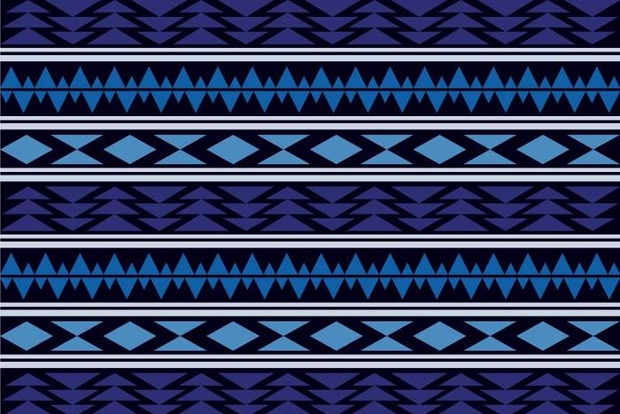 Blue Aztec Pattern