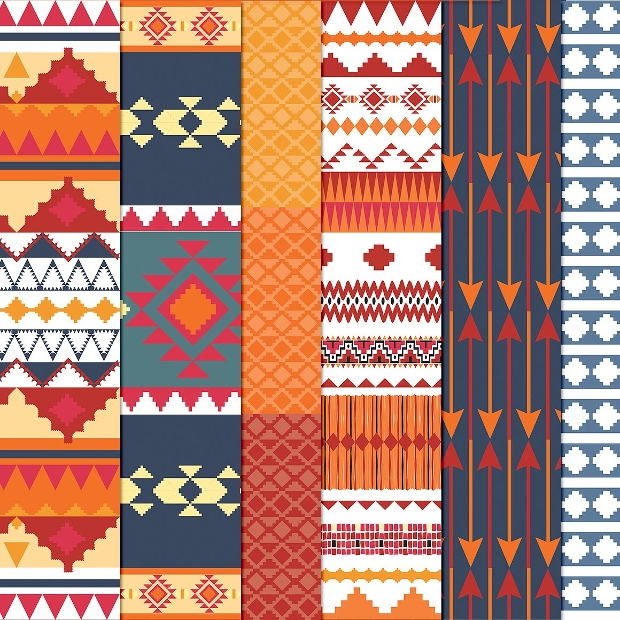 tribal aztec pattern design