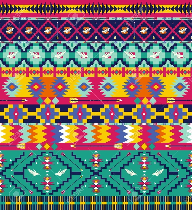 high resolution aztec pattern design