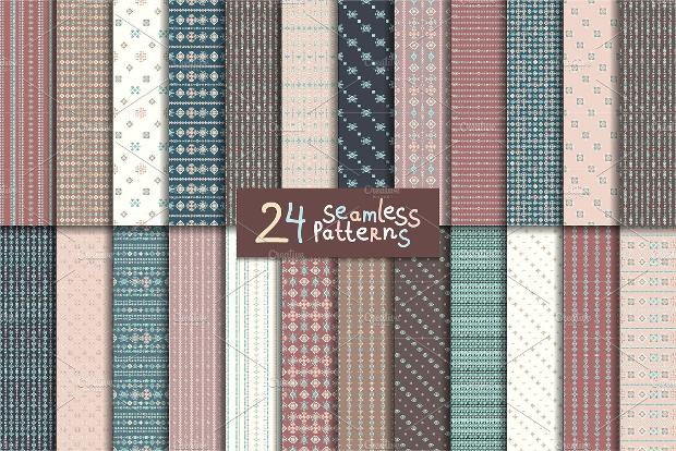 realistic aztec seamless pattern