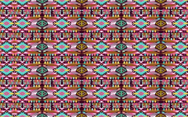 bright aztec pattern design