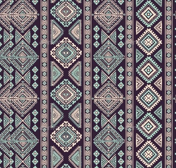 aztec vintage pattern