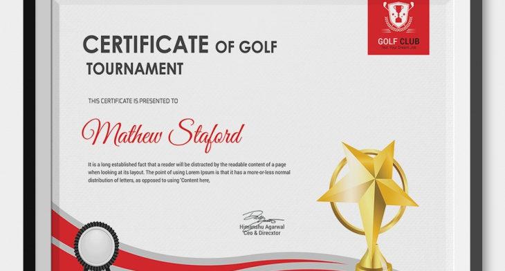 5 Golf Certificates Psd Word Designs Design Trends Premium