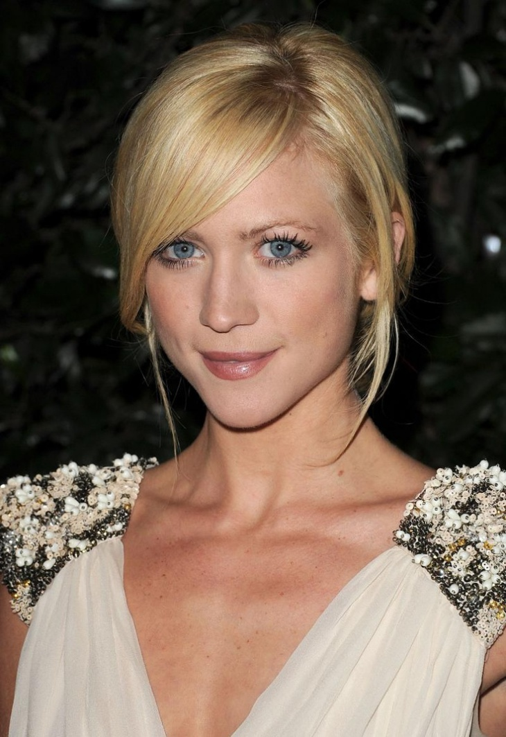 Brittany Snow Asymmetrical Fringe Hairdo