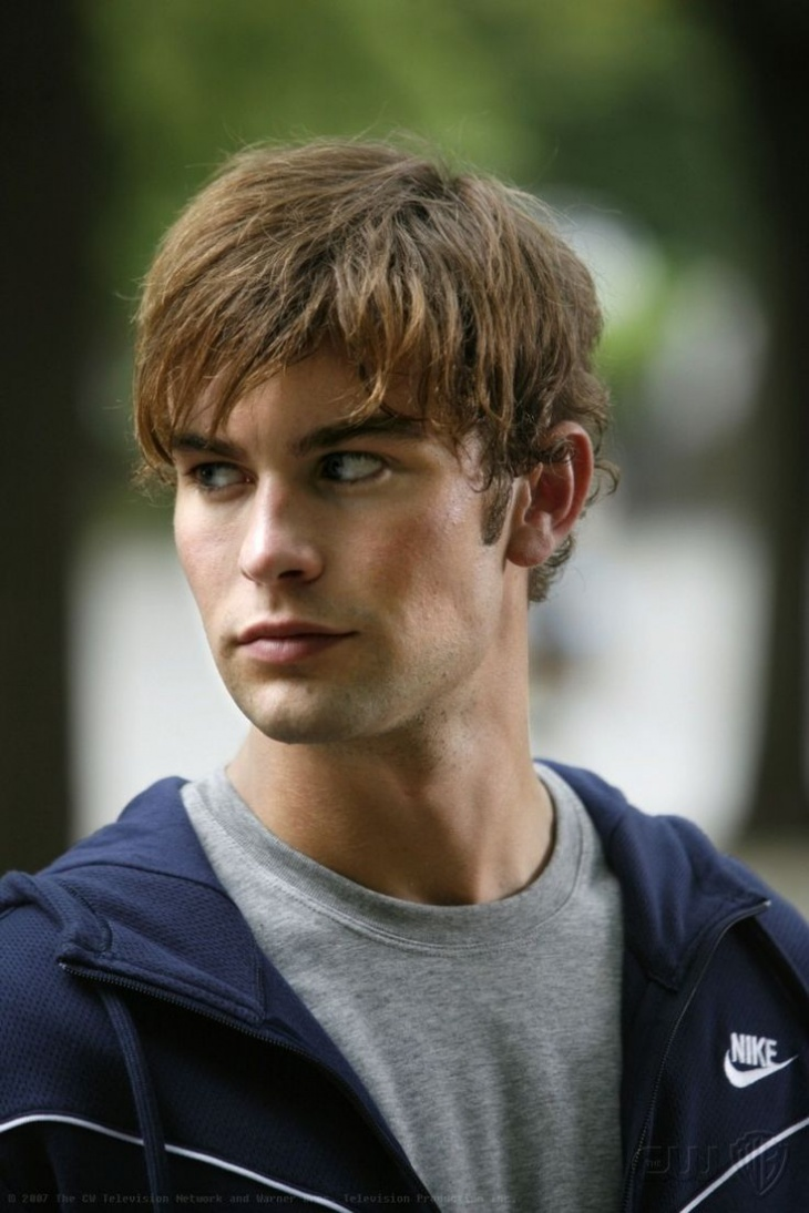chace crawford messy angular fringe hair