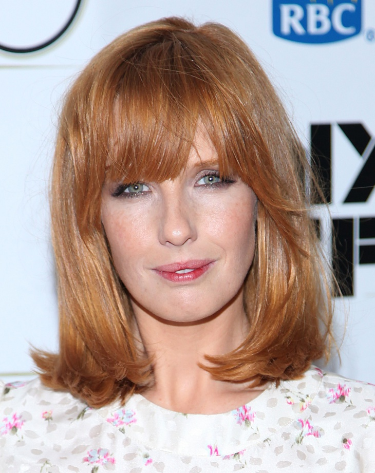 Kelly Reilly Angular Fringe with Bangs