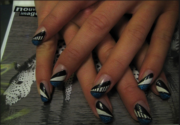 pattern angel wings nail art