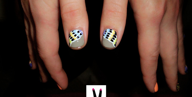 multi color angel wing nails