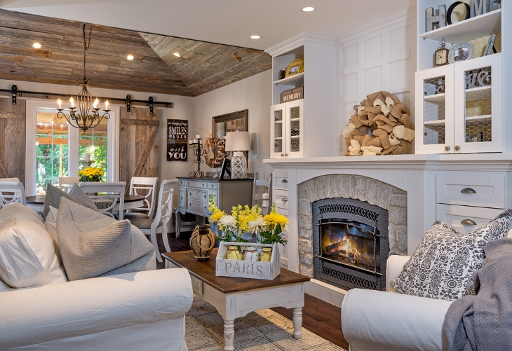 Farmhouse Chic Living Room Design
