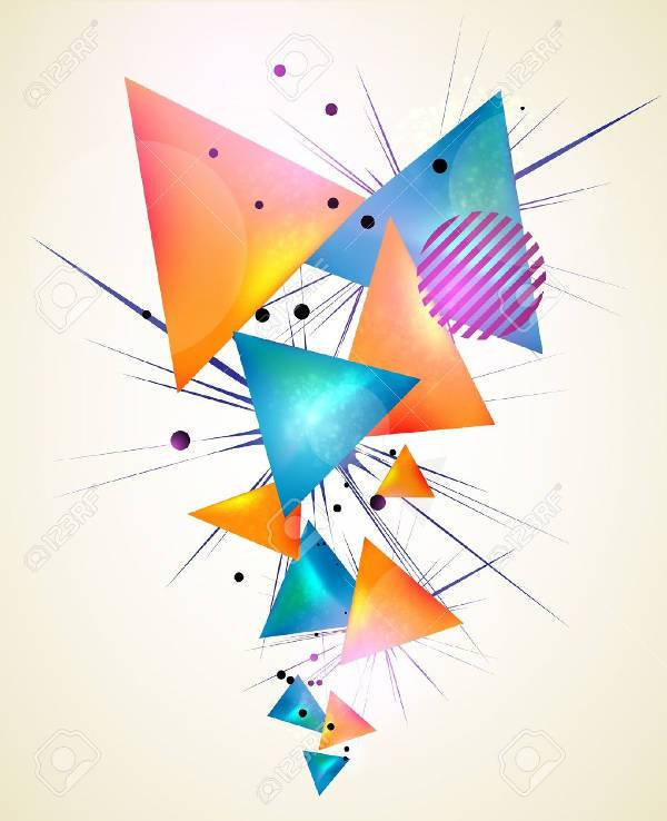 Abstract Geometric Triangle Shapes