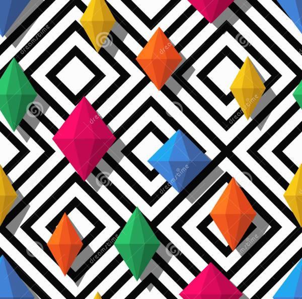 3d styled geometric diamond shapes
