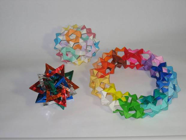 Paper Origami Geometric Shapes
