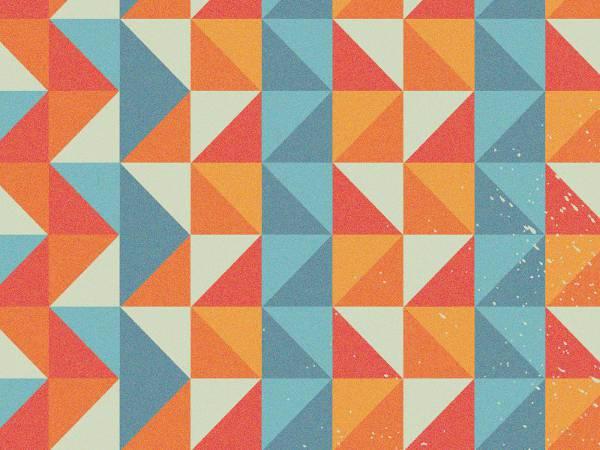 retro geometric shape pattern