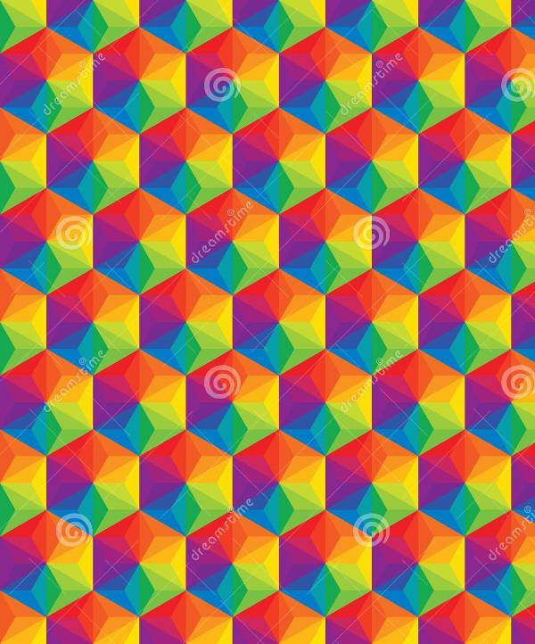 Vector Colorful Geometric Shape Pattern