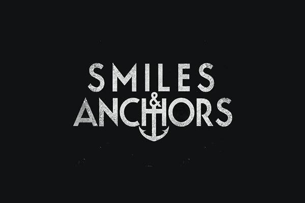Black and White Smile and Anchors Band Logo