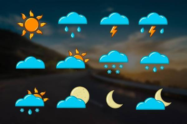 High Resolution Colorful Weather Icons