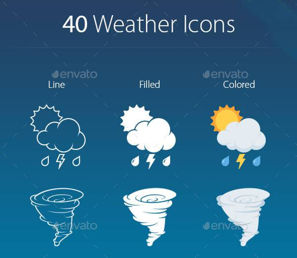 high resolution climate weather icons