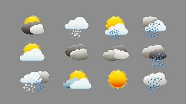 animated rainy weather icons