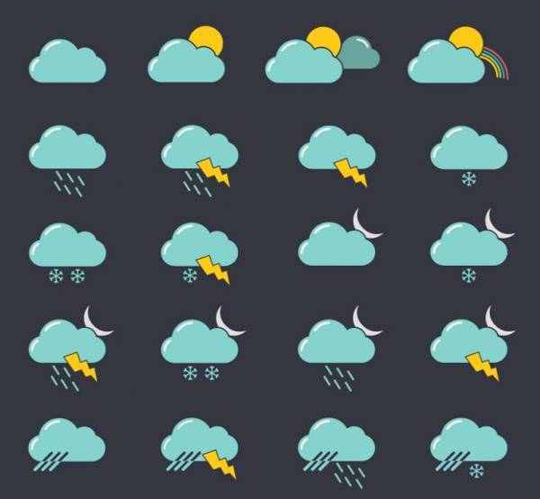 realistic free weather icons