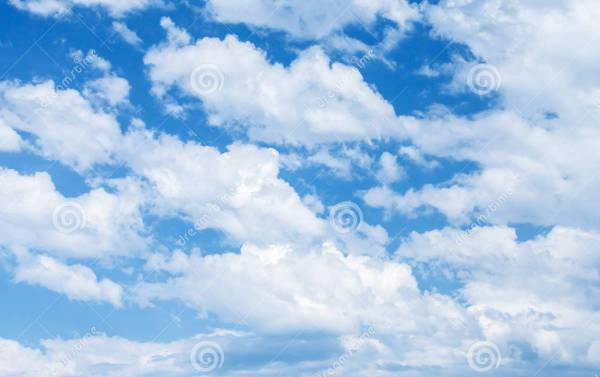 bright blue cloudy sky texture