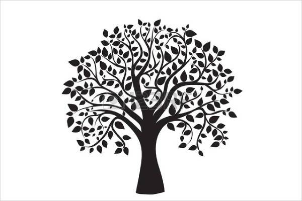 black and white tree of life clipart