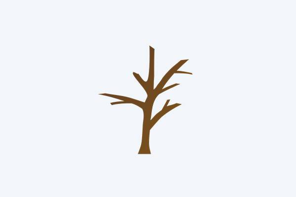 bare tree trunk clipart