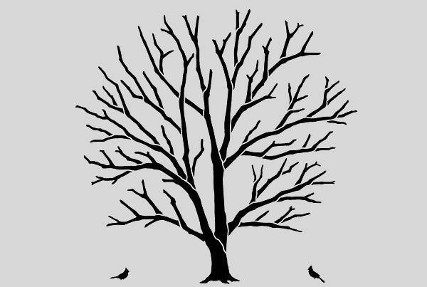 leafless tree outline clipart