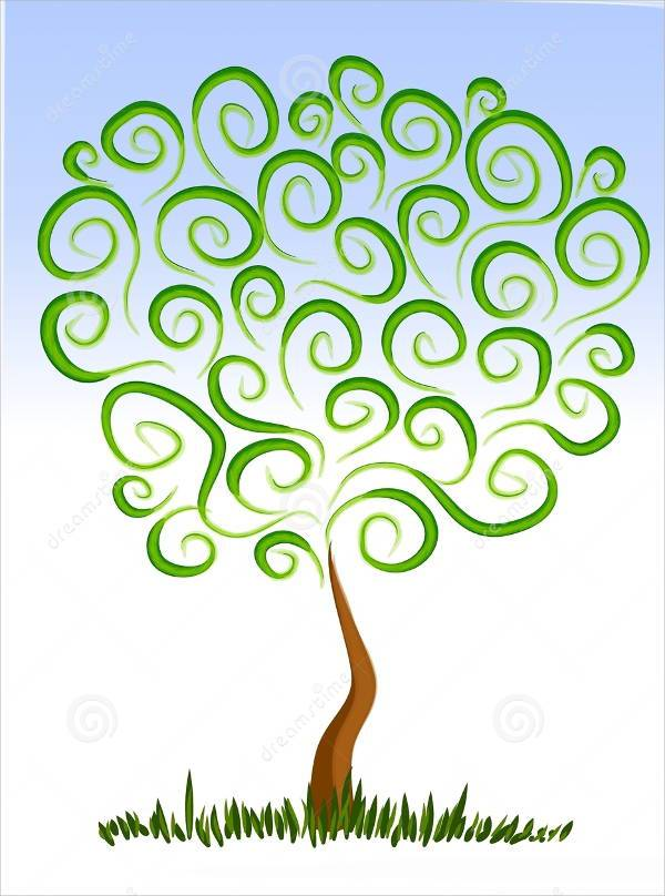 abstract growing tree clipart