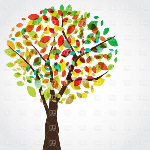 colorful fall tree clipart