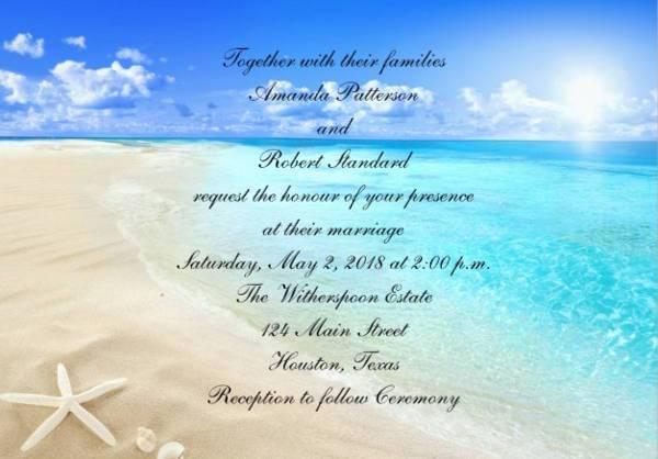 DIY Starfish Beach Wedding Invitation
