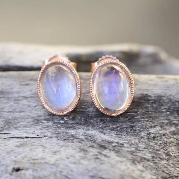 vintage rose gold stud earrings