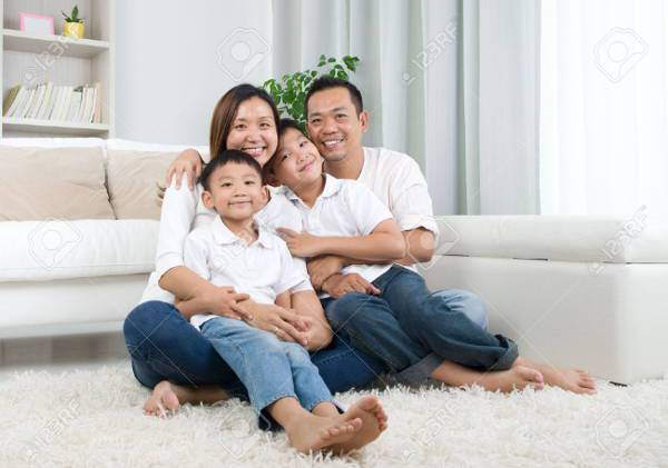 indoor family portrait photography