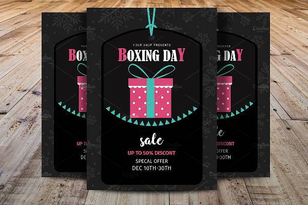 Customized Boxing Day Flyer Template