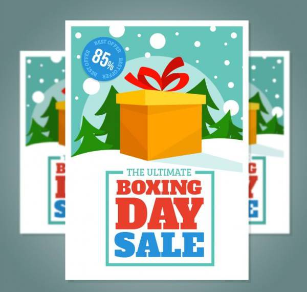 Boxing Day Sale Poster Design