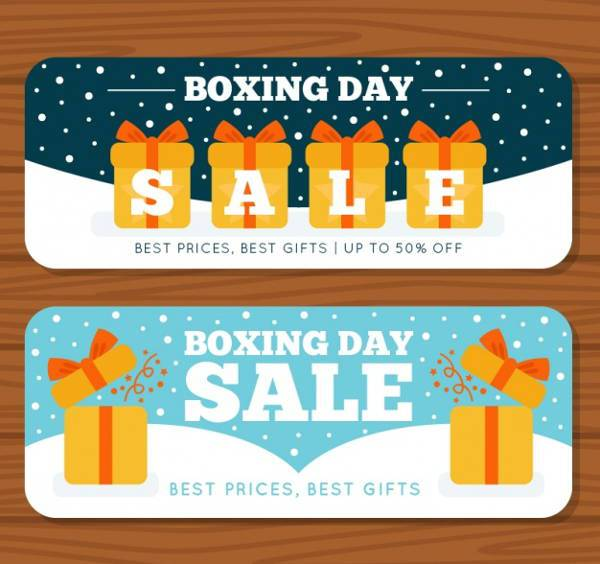 Colorful Boxing Day Banners