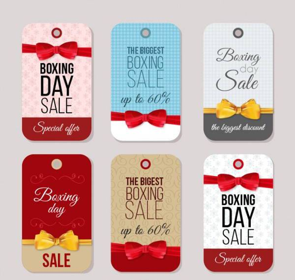 Boxing Day Sale Tags