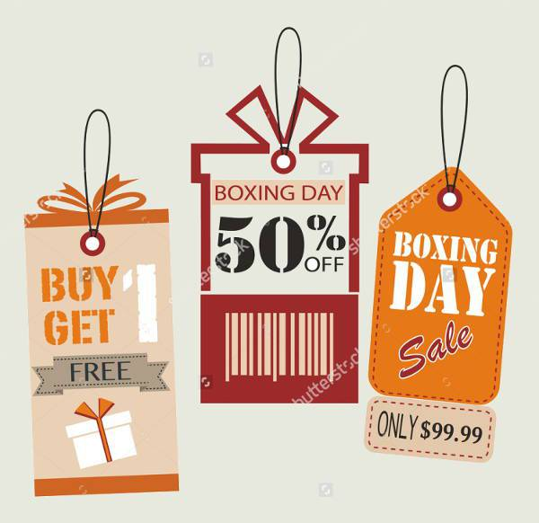 Boxing Day Price Tag Designs